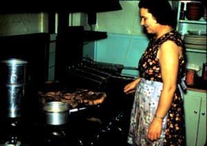 Edna in old BC lodge